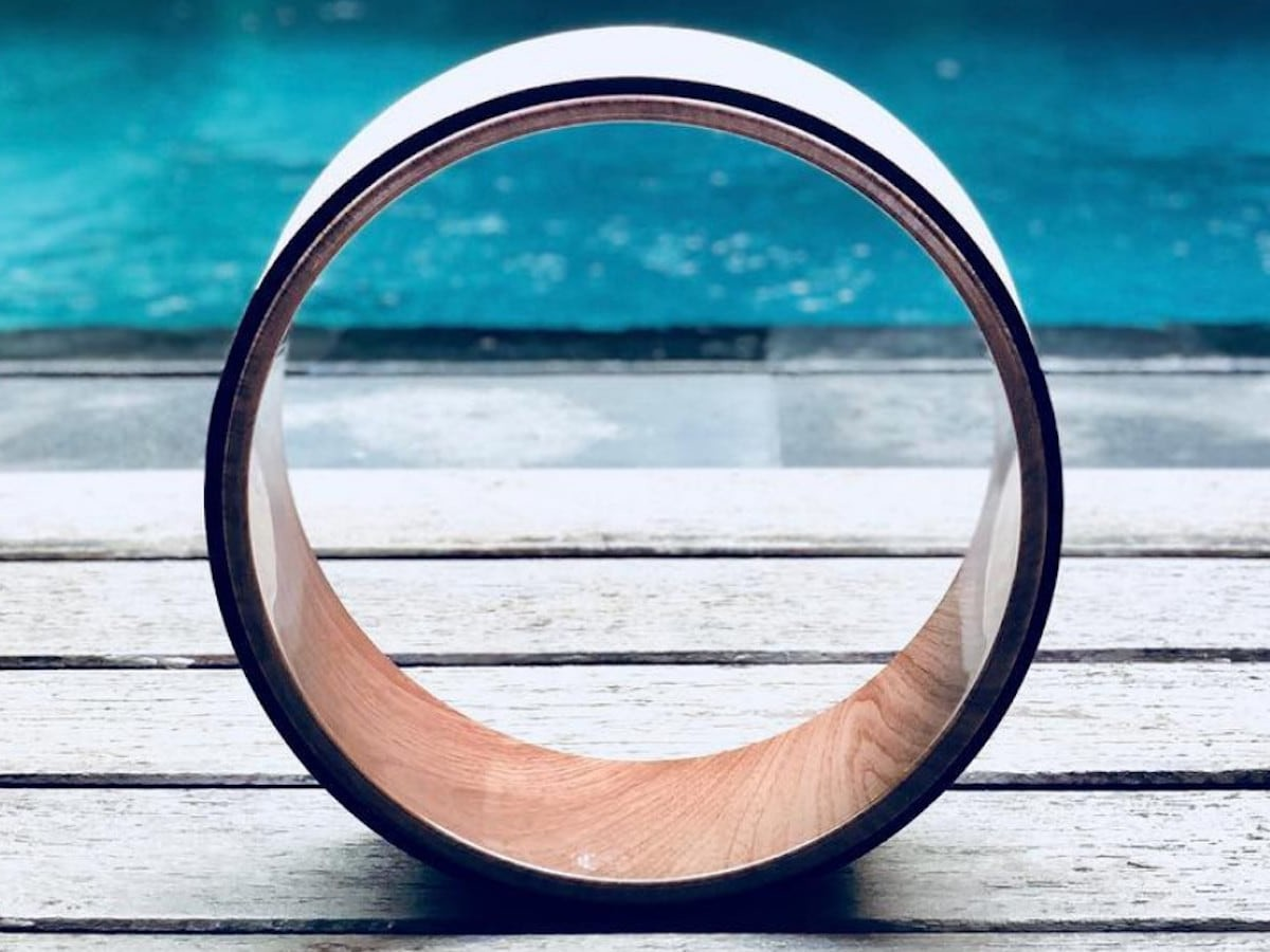 Purity Wave Cork Yoga Wheel helps you fully stretch your back