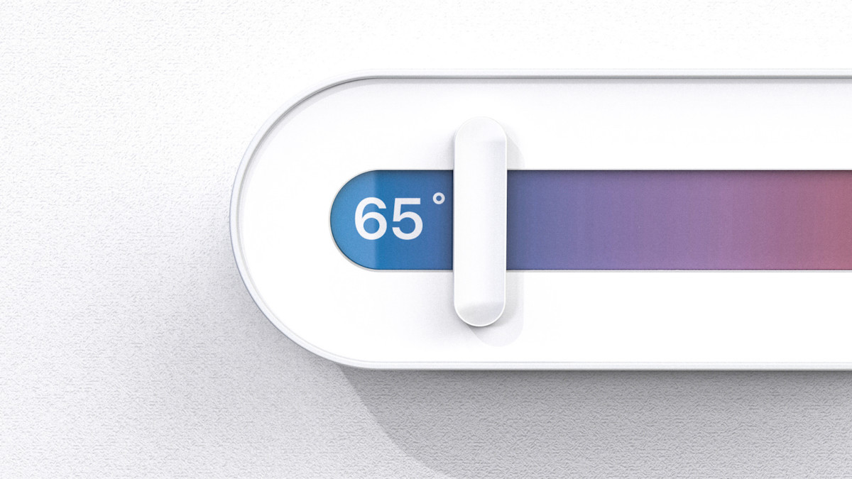Slide Minimalist Thermostat simplifies managing your home's temperature