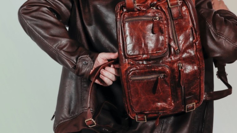 This reimagined leather bag is the perfect blend of style and function