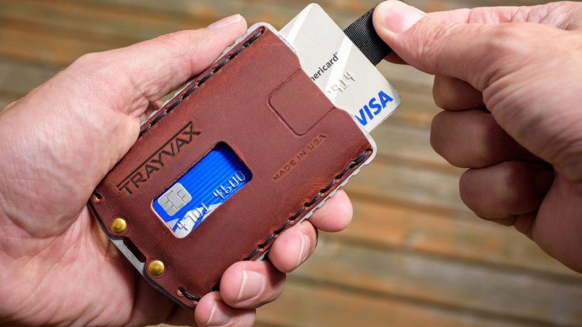 Trayvax Ascent Wallet Leather Cardholder fits a whopping 7 cards