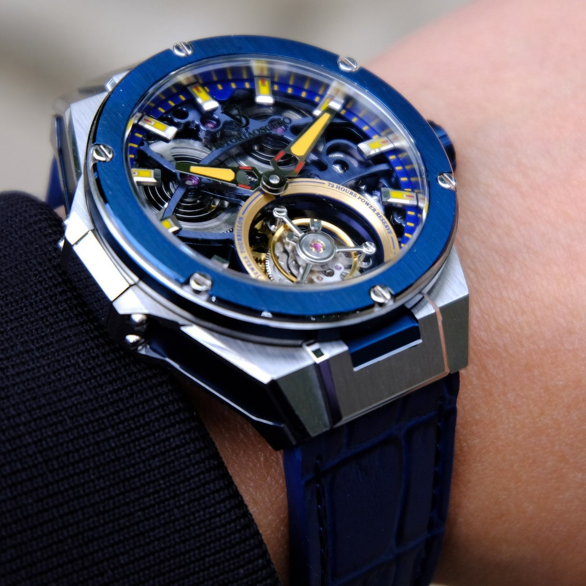 Victoriaoscuro Automatic Tourbillon Premium Luxury Watches have 72 hours of power reserve