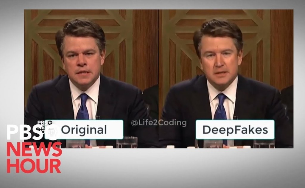 Original Vs. Deepfake Demo at the PBS News Hour