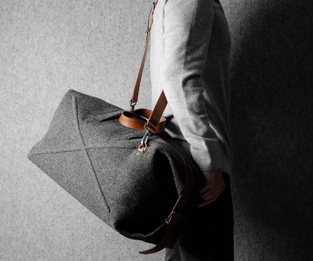 hardgraft Layover Holdall short-term travel bag has room for all your overnight essentials