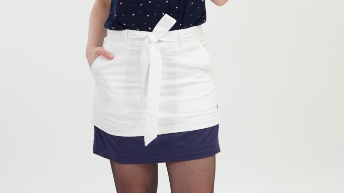 Zirts customizable skirts in white