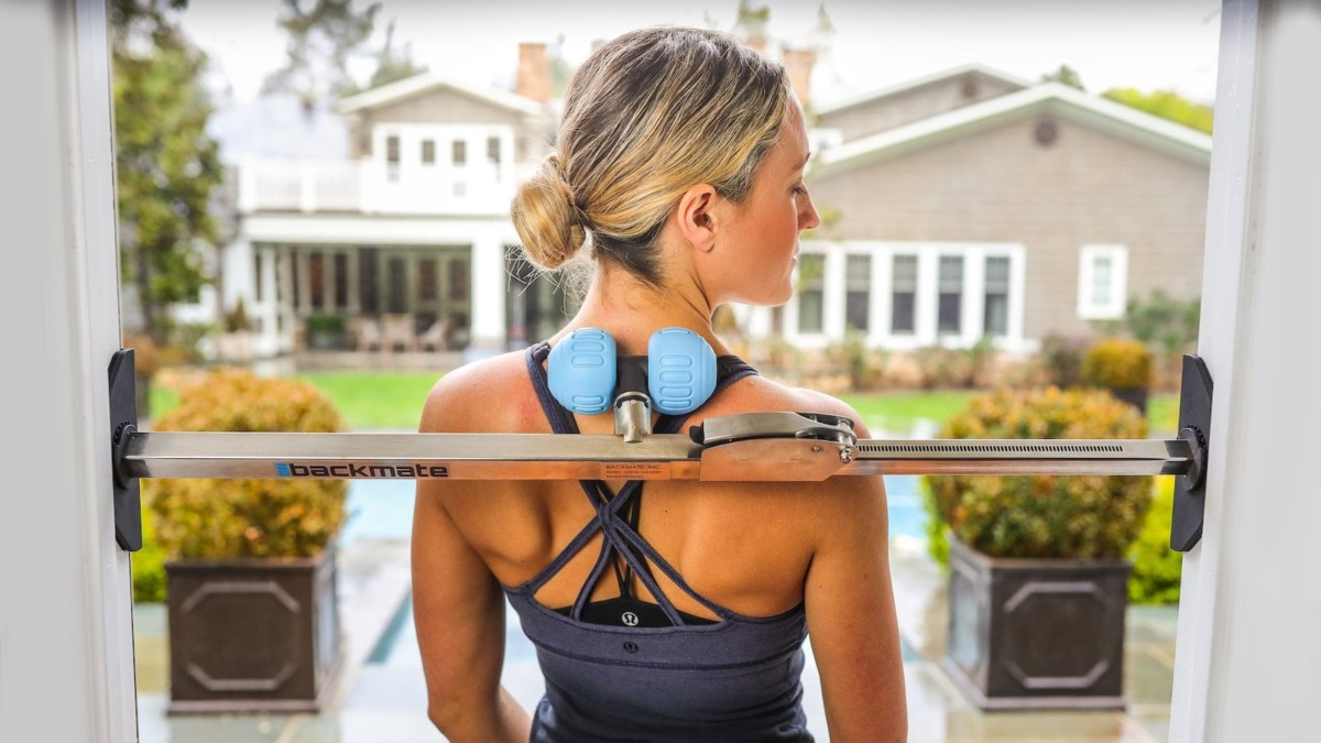 Backmate Back and Neck Pain Relief Tool fits right in your doorway