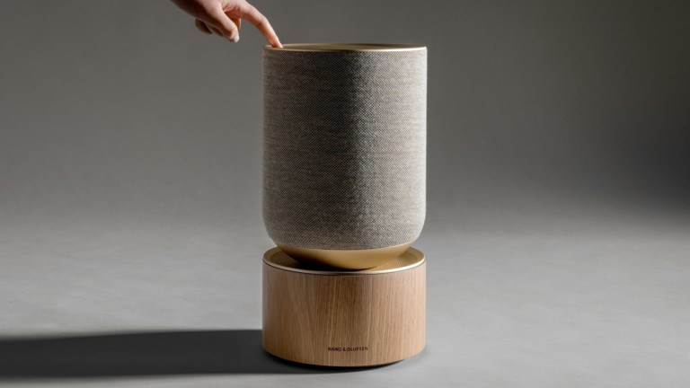 Bang & Olufsen Beosound Balance Elegant Speaker consists of two elements that blend art and sound
