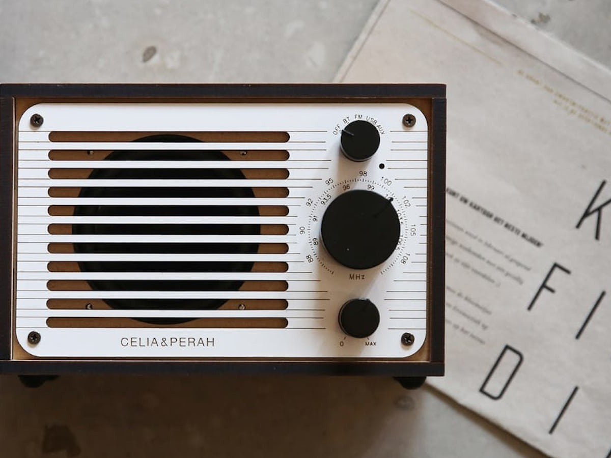 Celia & Perah DIY Bluetooth Classic Radio Retro Mono Speaker comes in laser-cut pieces you can build