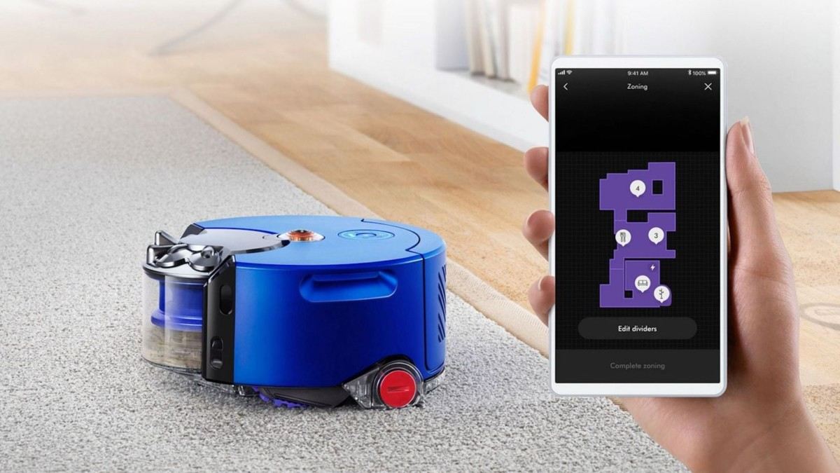 Dyson 360 Heurist Powerful Suction Robot Vacuum uses intelligent vision to navigate