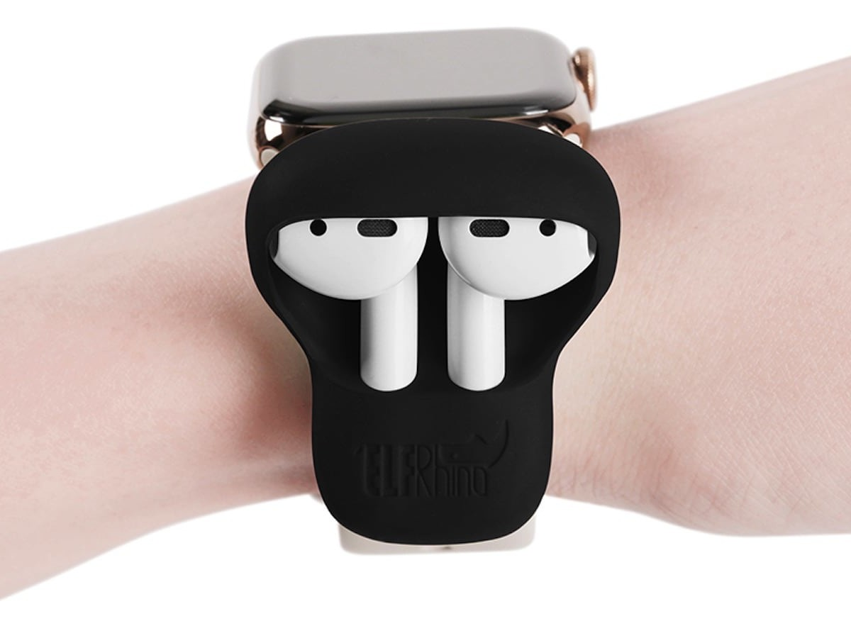 ELFRhino AirPods Holder Silicone Wrist Strap secures your earbuds on your wrist