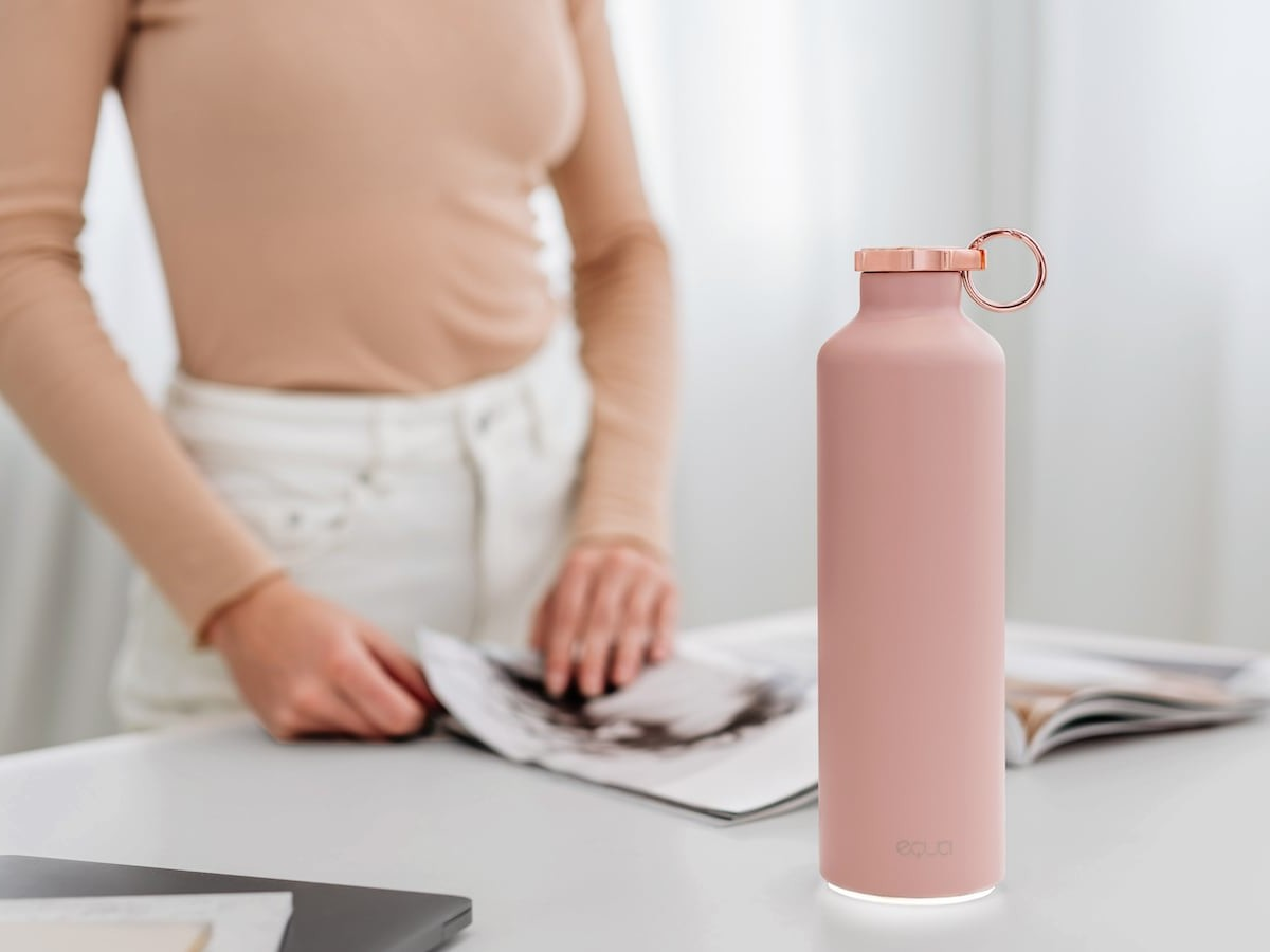 Equa Smart Hydration Reminder Water Bottle calculates your optimal water intake