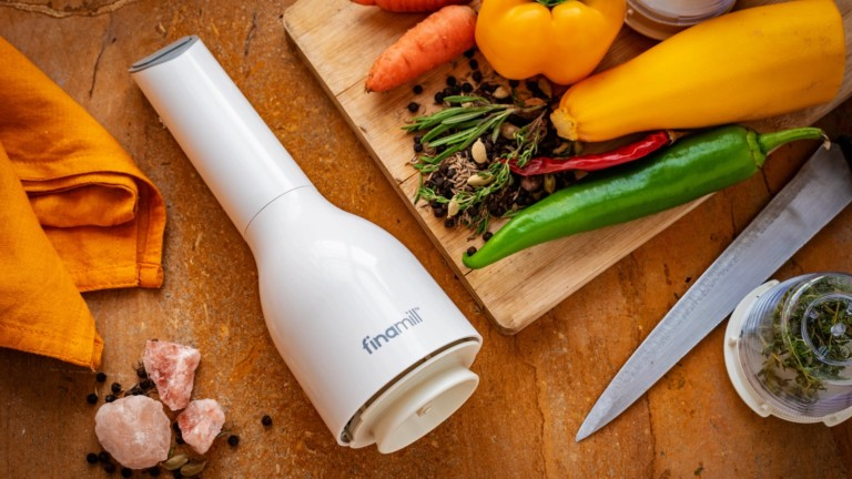 FinaMill Electric Spice Grinder uses interchangeable pods