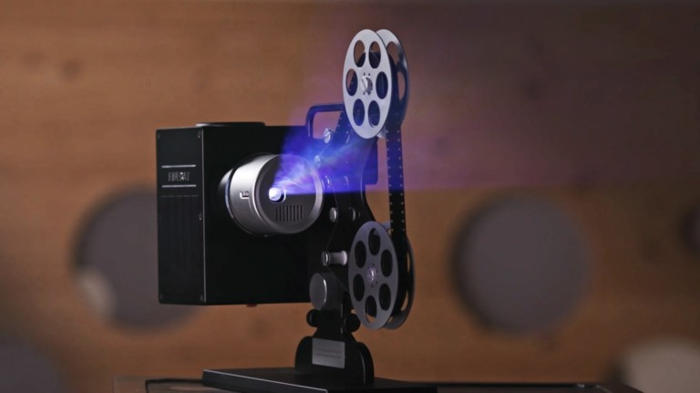 Fineday Modern Day Beam Projector comes with a retro-themed design