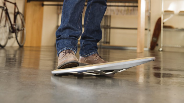FluidStance The Level Balance Board for Standing Desks keeps you active while working