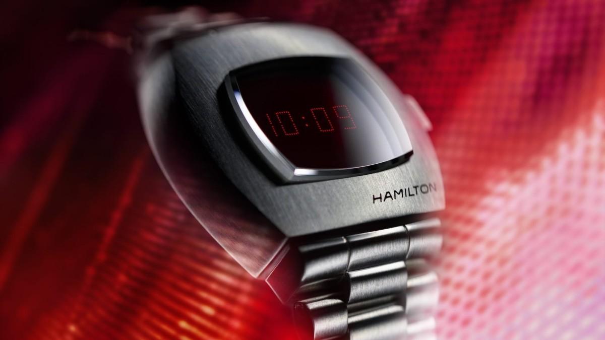 Hamilton Classic PSR Digital Quartz Watch is a nod to the original 1970s digital timepiece