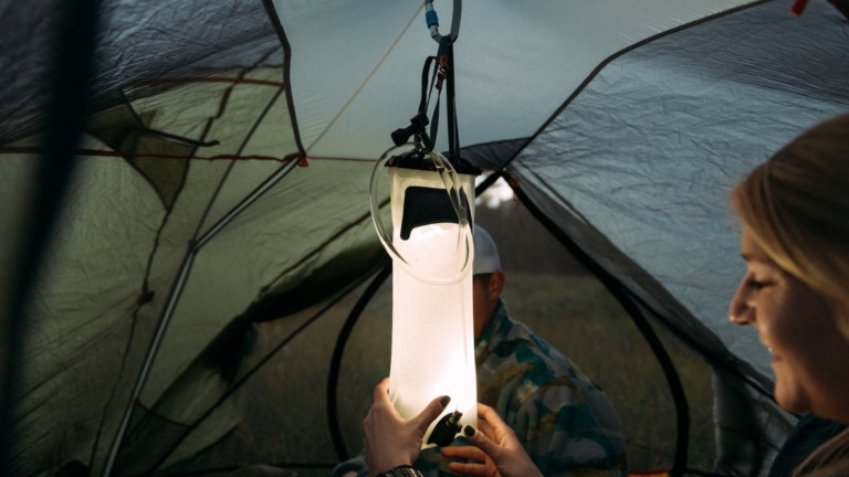 Hydrolight Outdoor Gear Hydrolight 2L Reservoir Water Bladder Light keeps you hydrated and lights your way
