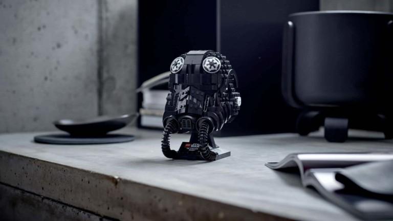 LEGO Star Wars Building Set TIE Fighter Pilot Helmet shows your allegiance