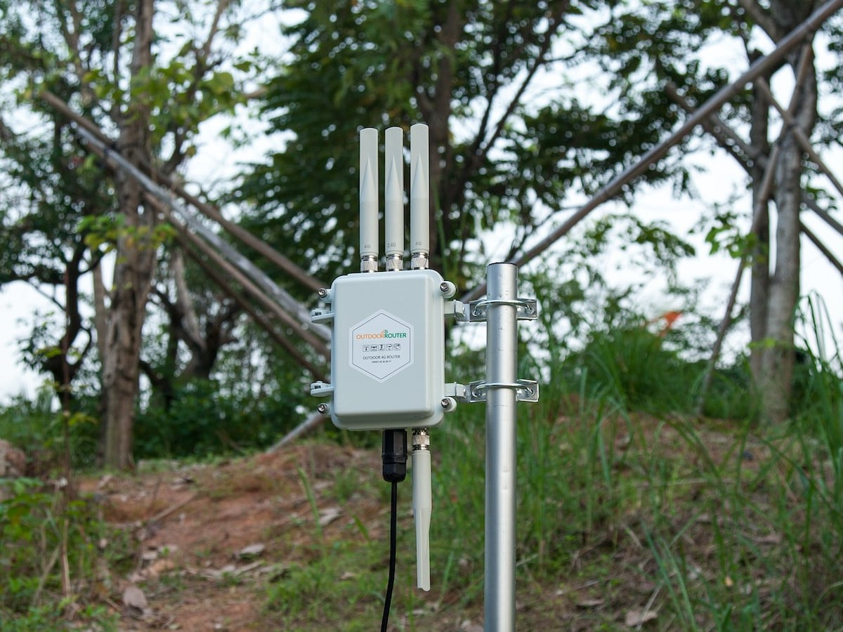 OutdoorRouter Outdoor 4G MIMO Router provides internet access in remote areas