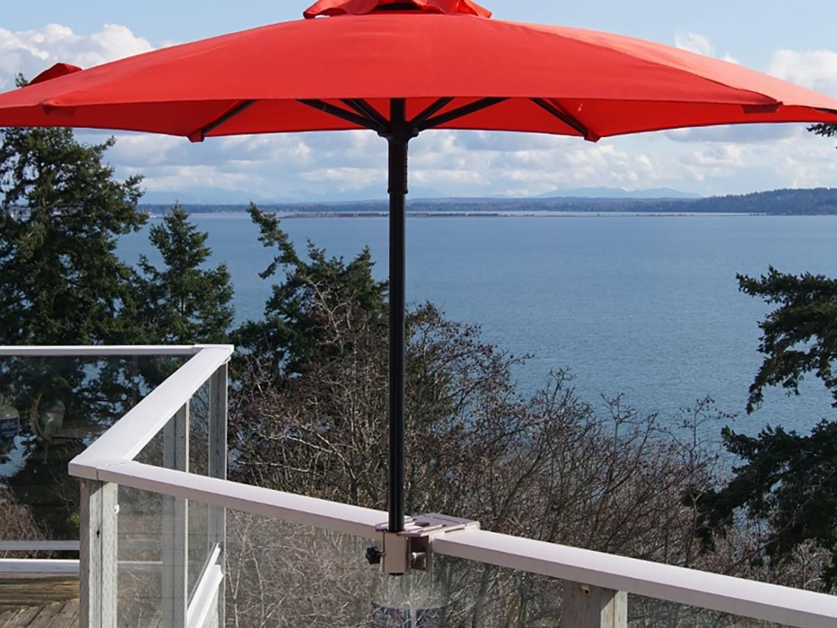 Rail-EZ Umbrella Mounting System makes it easy to move your umbrella