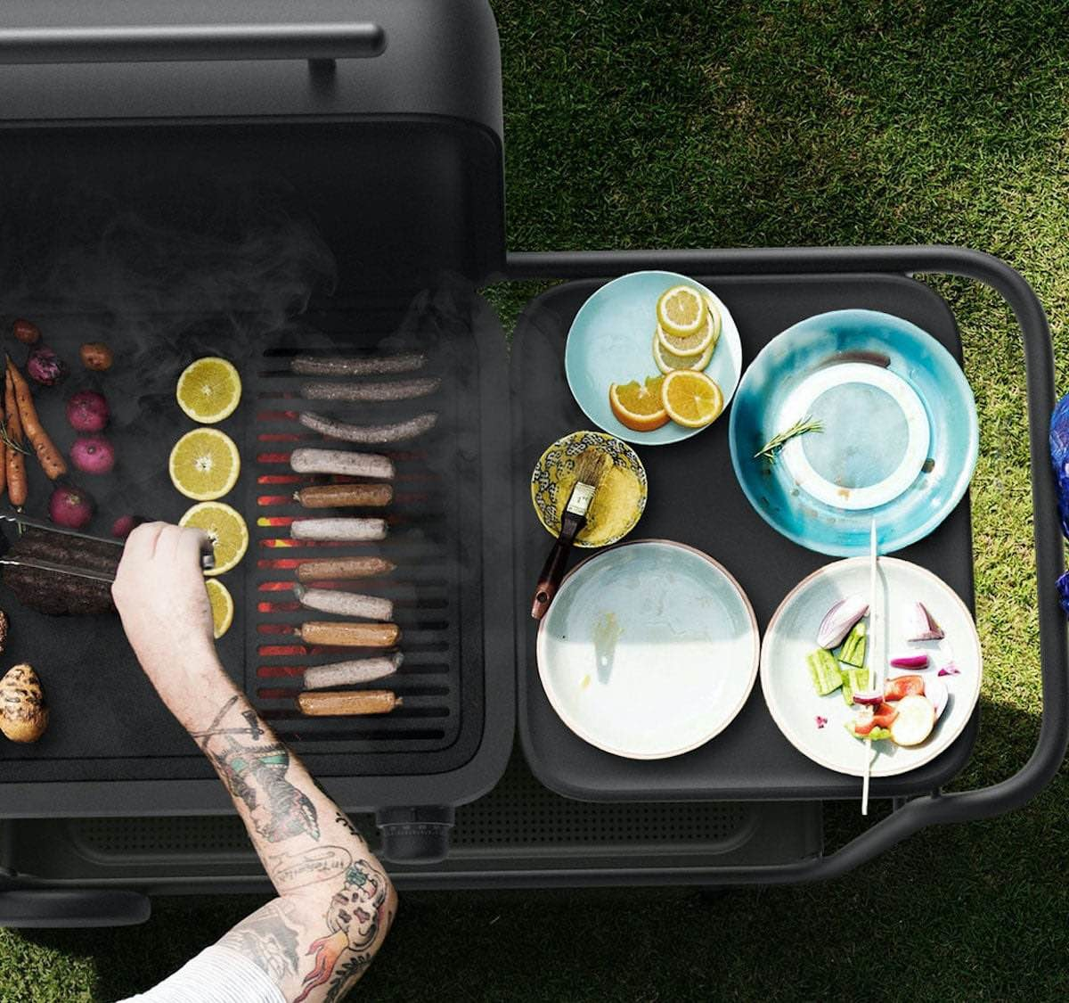 Spark Grills Charcoal BBQ uses a custom system that gets hotter faster