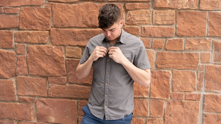 Switchback Eco-Friendly Shirt is made from coffee grounds and recycled bottles