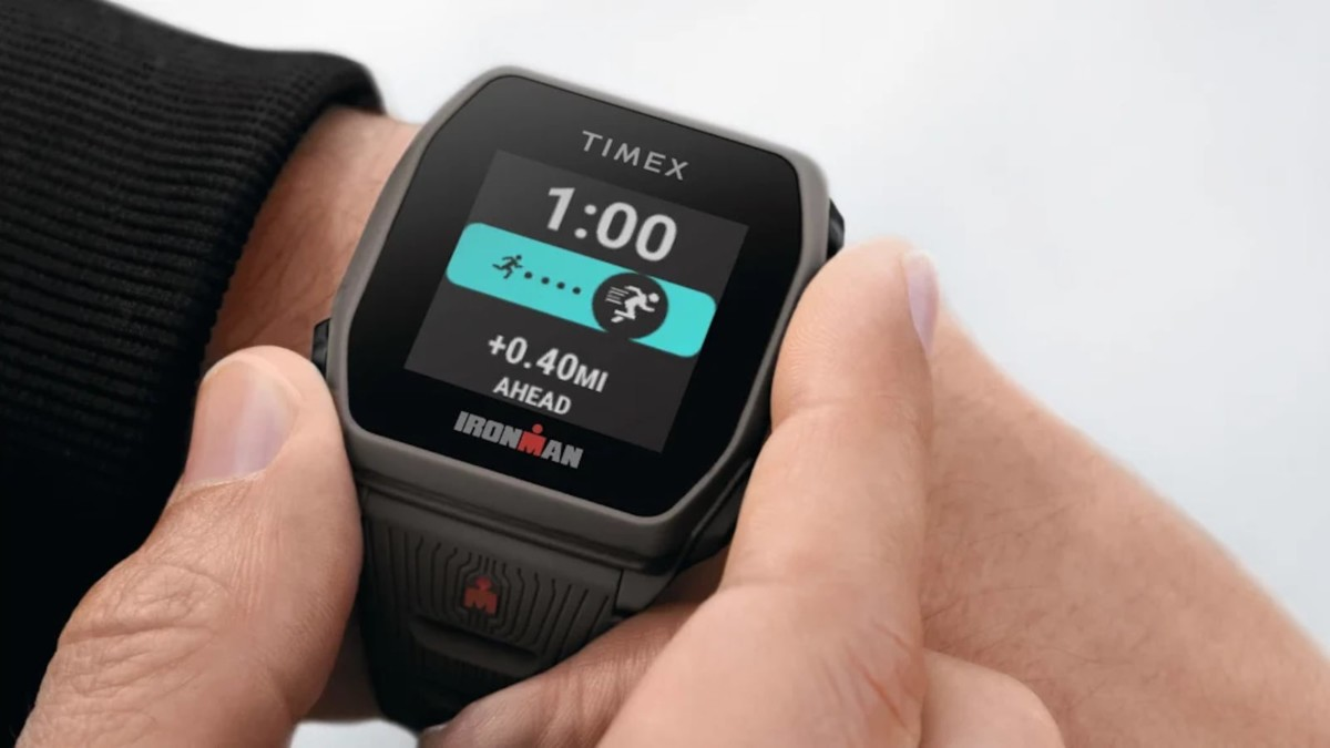 TIMEX IRONMAN R300 GPS Silicone Strap Watch can guide you through workouts