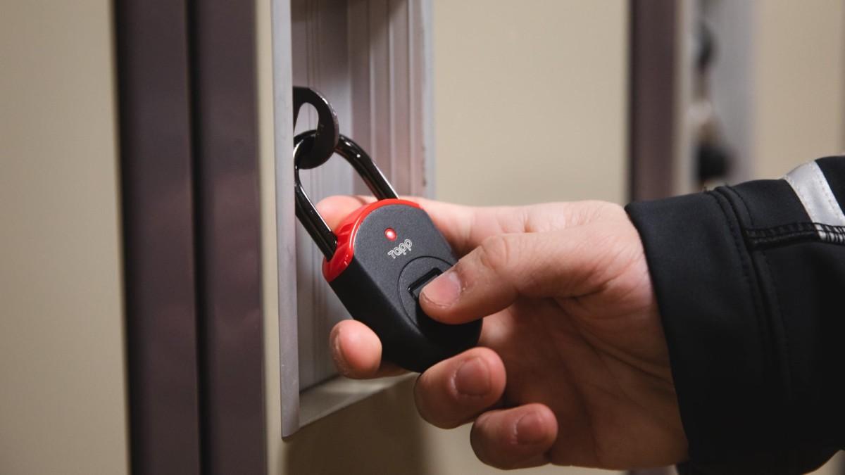 Tapplock lite Fingerprint Padlock helps keep your everyday belongings safe
