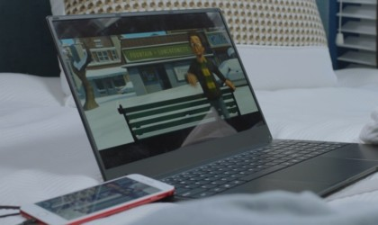 PhoneBook Smartphone Converting Laptop