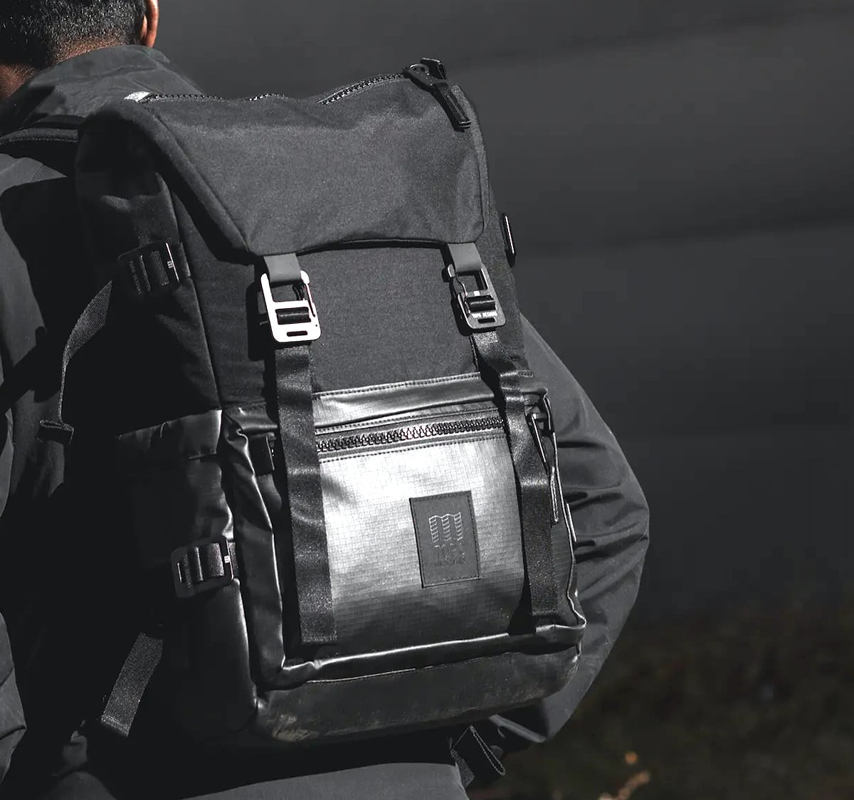 Topo Designs Rover Pack Premium Urban Backpack has a tough ripstop base