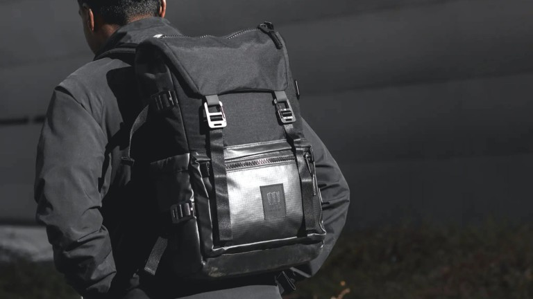 Topo Designs Rover Pack Premium Urban Backpack has a tough ripstop base