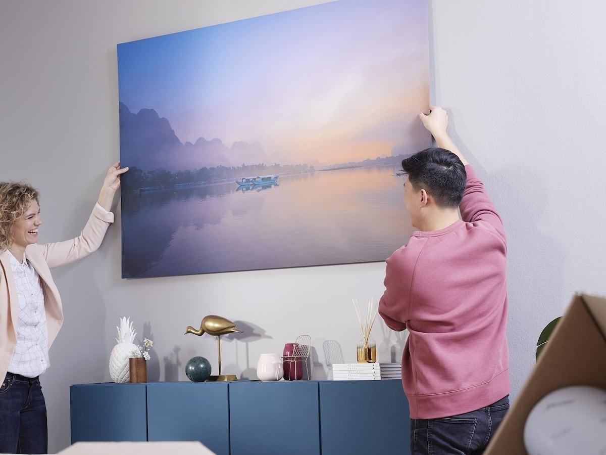 Xpozer Large Photo Frame System makes it easy to showcase your favorite photos