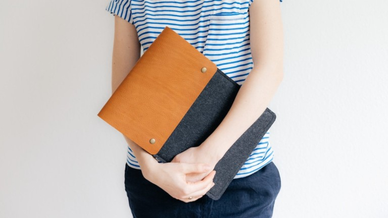 band&roll Courier Nostalgic iPad Case blends felt and leather for a timeless design