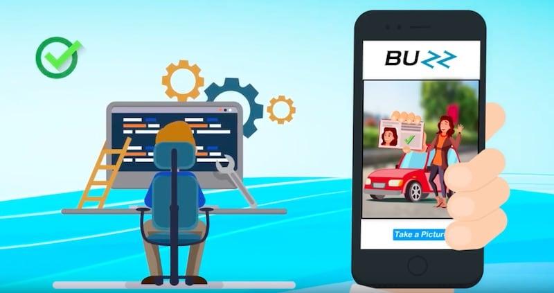 Buzz App in Use