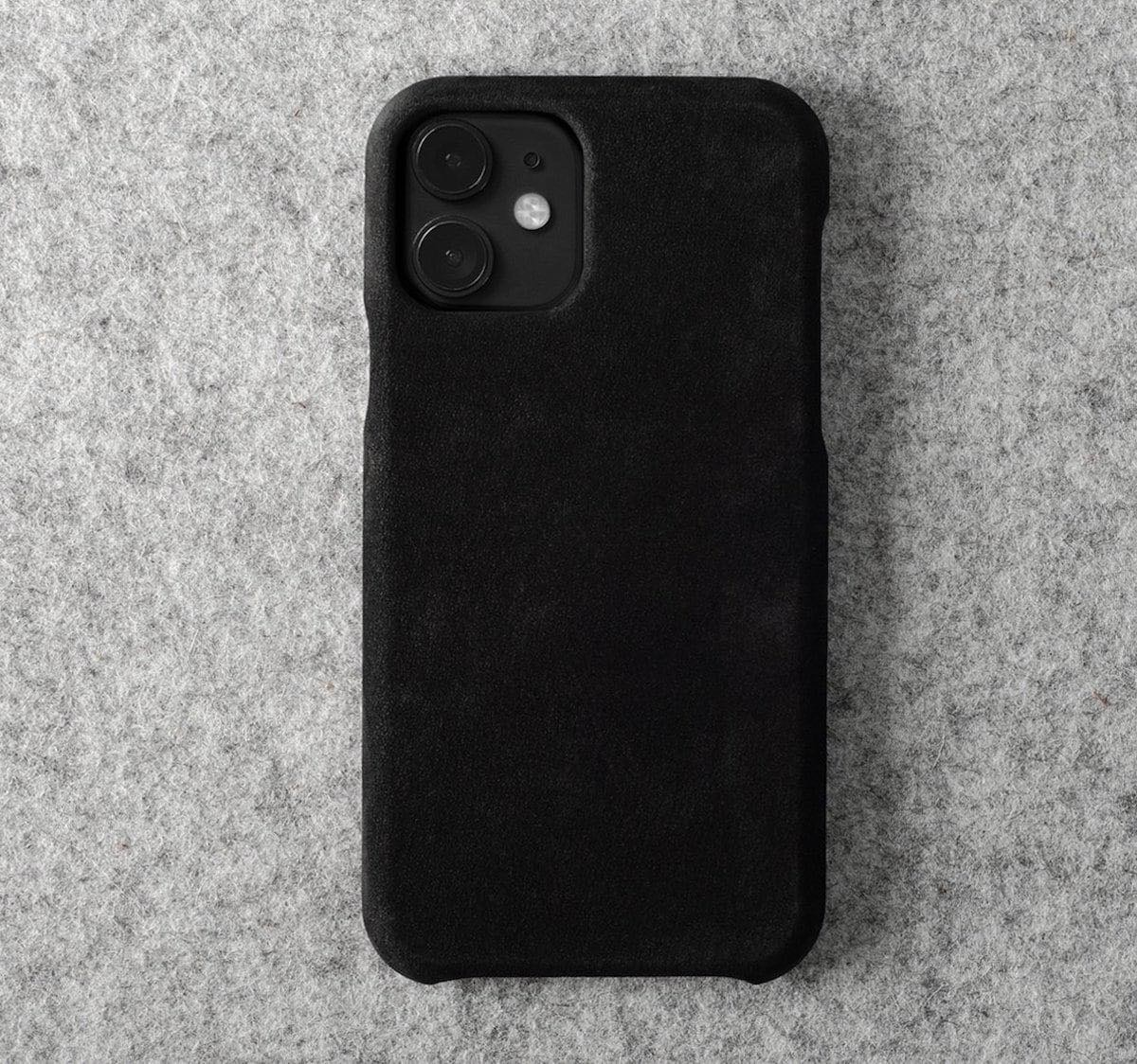 hardgraft Dusty Phone Cover Nubuck iPhone Case snaps right on to stay in place