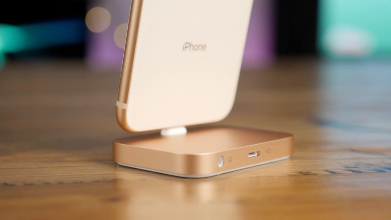 iPhone Lightning Dock in Use