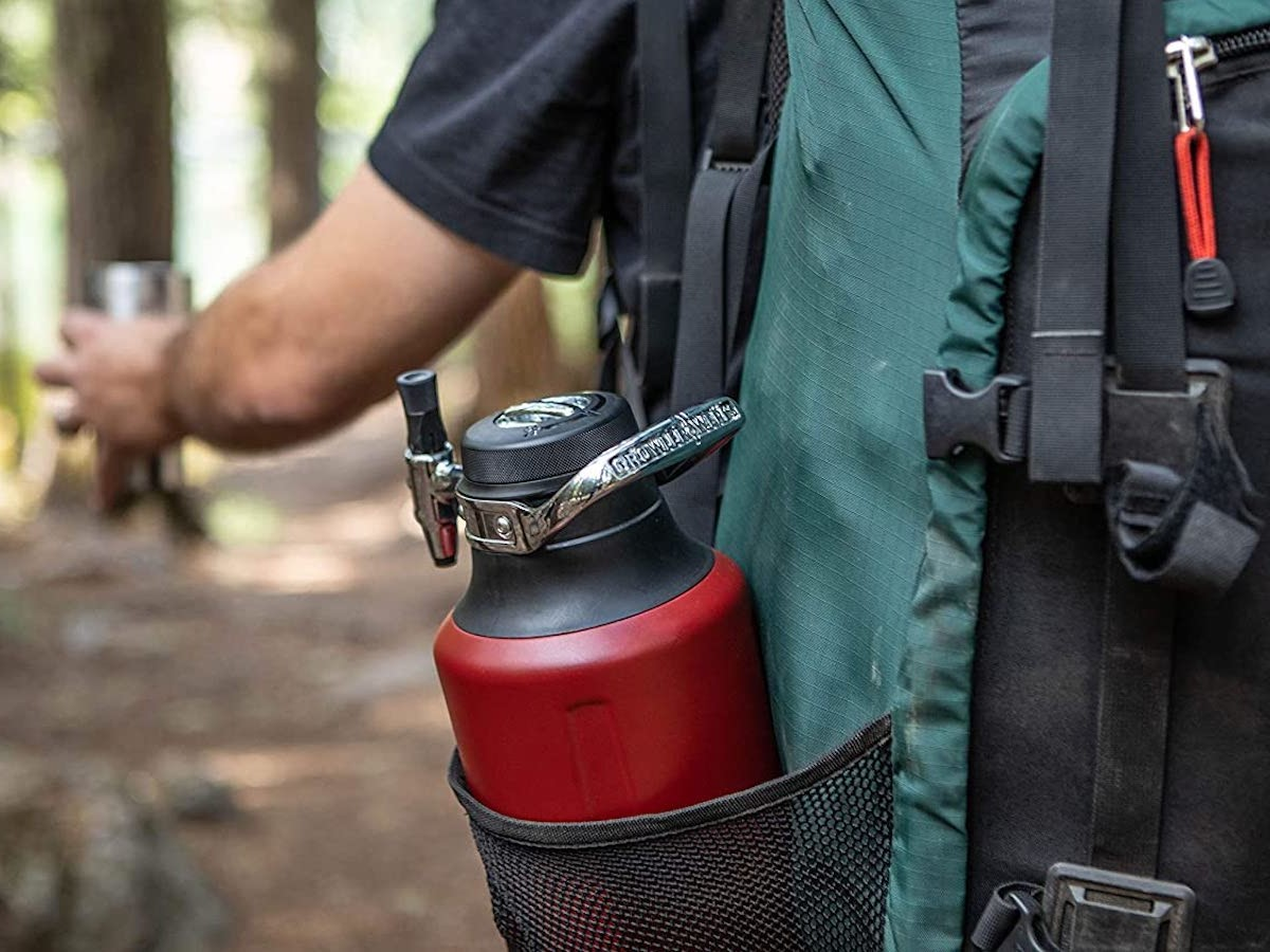 GrowlerWerks uKeg Go portable growler works for any carbonated beverage