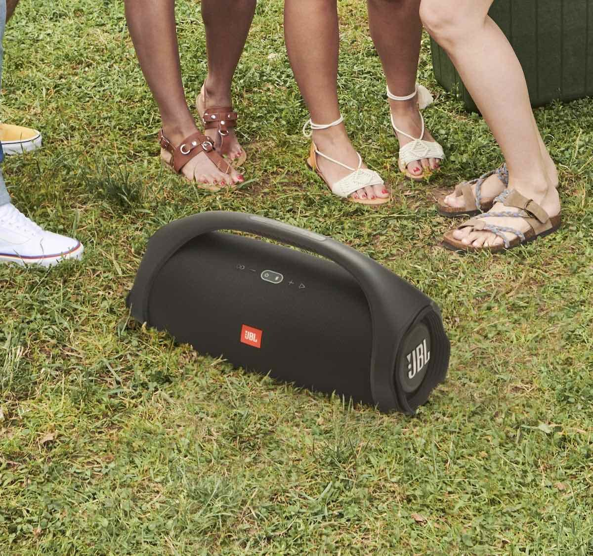 JBL Boombox 2 Powerful Portable Bluetooth Speaker plays music for up to 24 hours