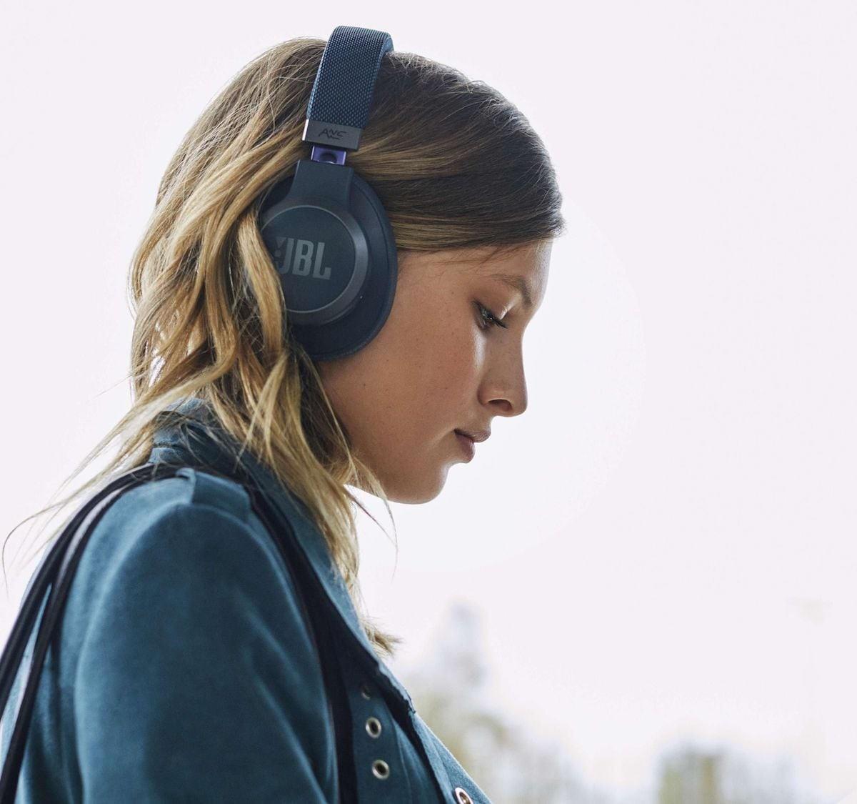 JBL LIVE 650BTNC wireless hands-free headphones respond to Amazon Alexa voice commands