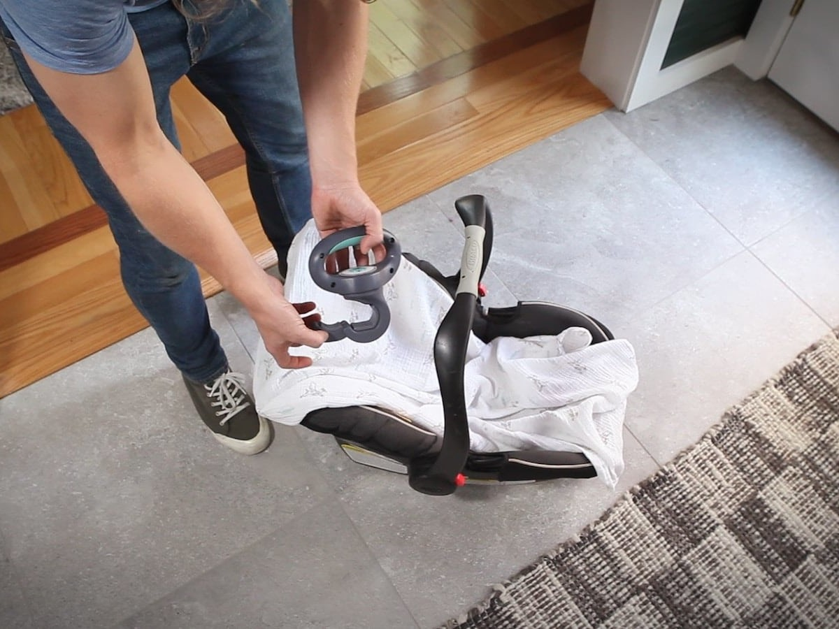 LugBug Handle Car Seat Extension makes carrying your baby much more comfortable