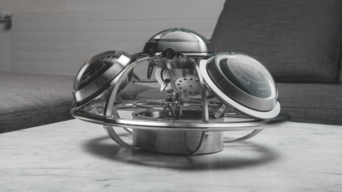 MB&F + L'Epée 1839 The Fifth Element Intergalactic Horological Weather Station accurately forecasts weather