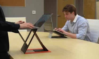 Bureau d'ordinateur portable assis-debout 4-en-1 MOFT Z