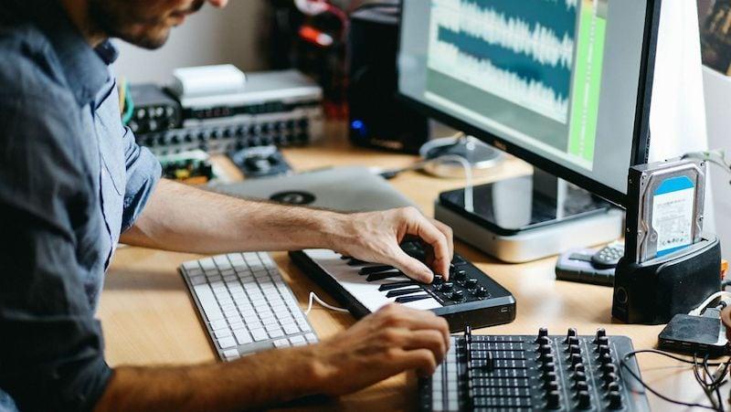 Music-Recording Studio Setup