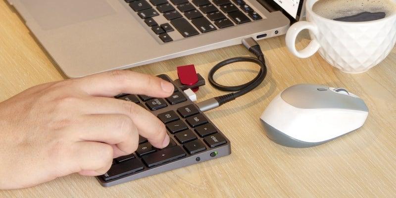 VOAMOKO USB-C Numeric Keypad Bluetooth Numpad