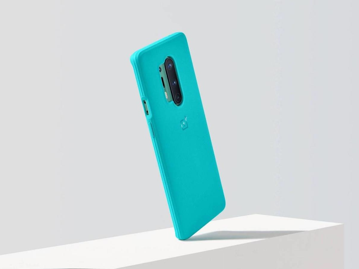 OnePlus 8 Pro Sandstone Bumper Case Textured Cover is easy to grip