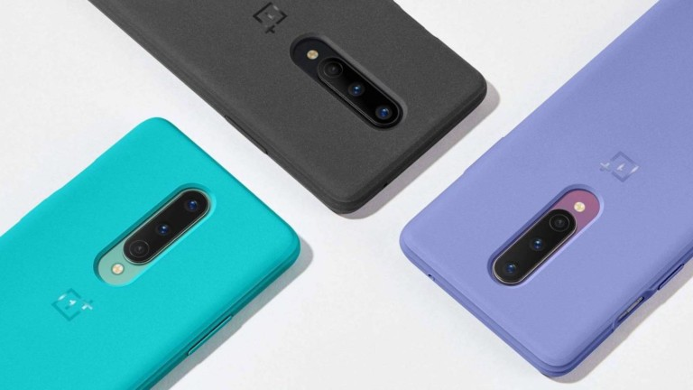 OnePlus 8 Sandstone Bumper Case Protective Cover has a texturized feel for extra grip