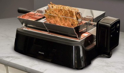 Phillips Smoke-less Grill with Rotisserie Attachment Indoor BBQ.