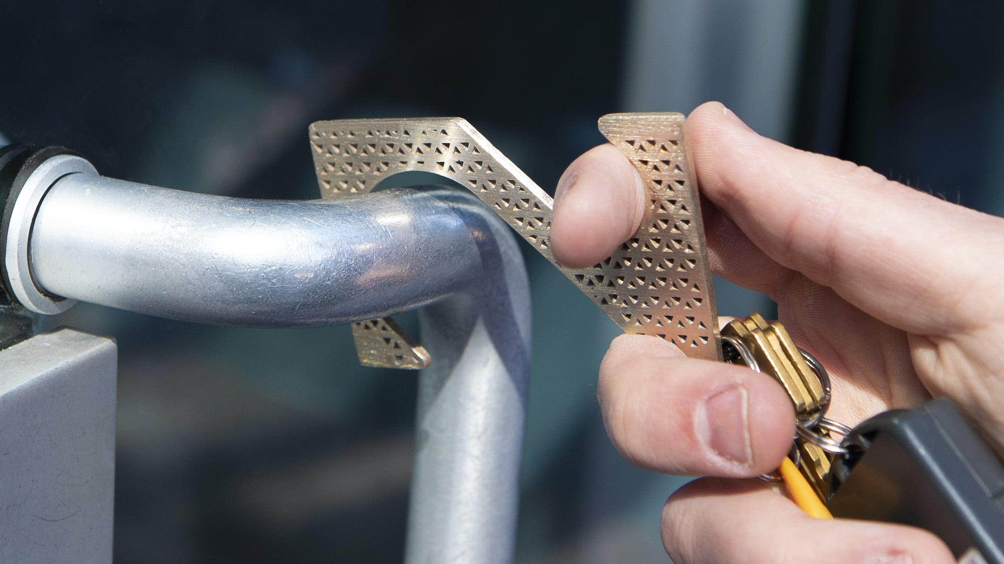 SANITAS Antibacterial Copper Door Opener keeps you free of germs while going about your day