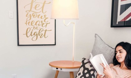 Brightech Owen Floor Lamp Side Table