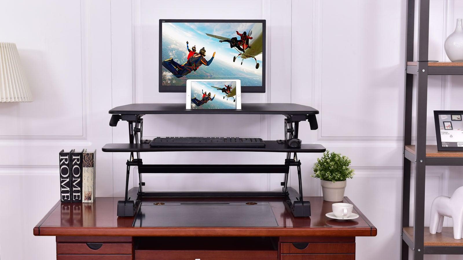 Tangkula Dual Monitor Standing Desk