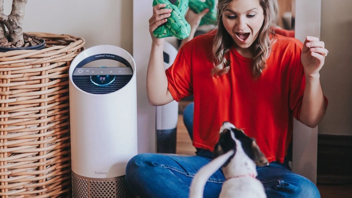 TruSens Z-1000 indoor air filter reduces pollutants at home