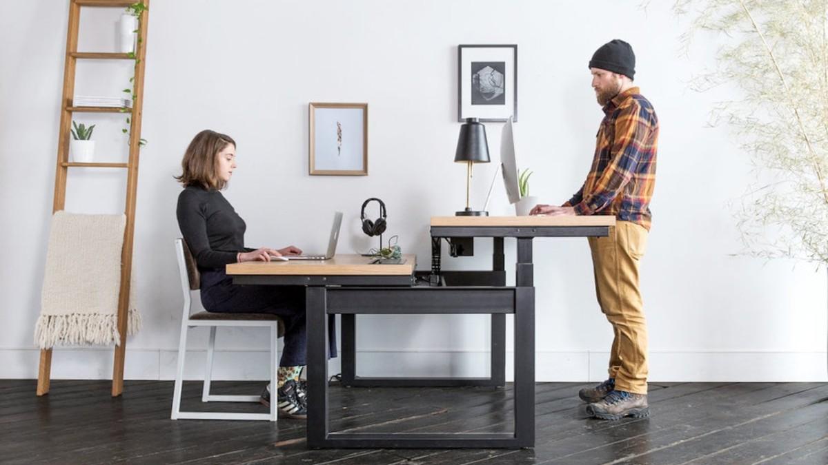 Uhuru Minim Rise Sit-Stand Workstation in Different Setups